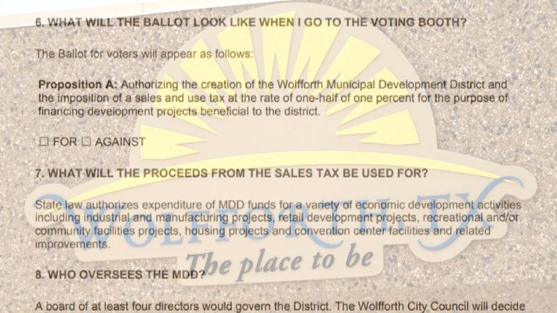 Ballot language has prevented the City of Wolfforth from implementing a desired sales tax.
