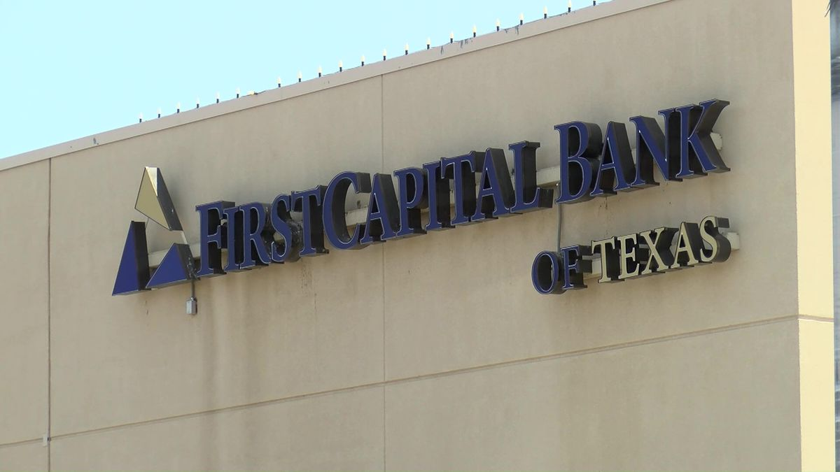 FirstCapital Bank of Texas building in Lubbock, TX (Source: KCBD Video)