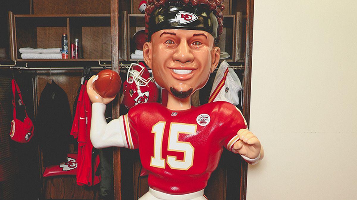 The Kansas City Chiefs revealed BobblePat on Friday, a life-sized bobblehead of Patrick...