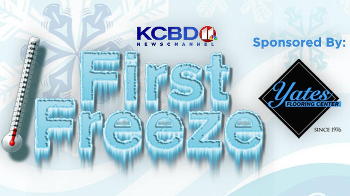 KCBD First Freeze 2021