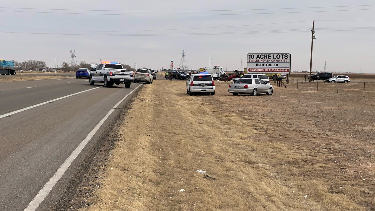 DPS officials say one person was killed in a rollover on FM 1729 at Hwy 62/82 on March 9, 2021