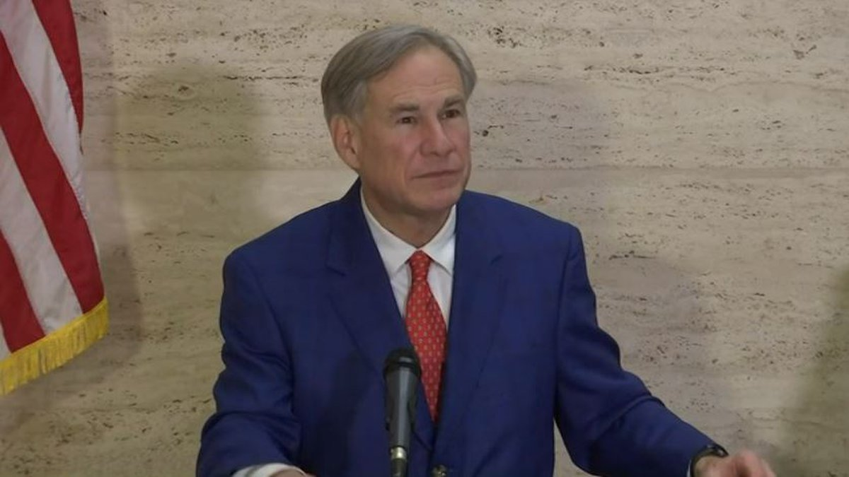 Texas Governor Greg Abbott in Tyler, Texas on March 5, 2021.