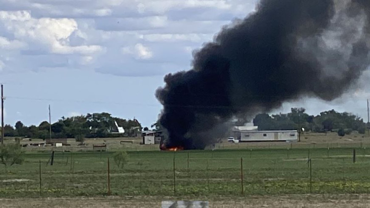 The fire started in the 6000 block of FM 2378, not far from West 50th Street.