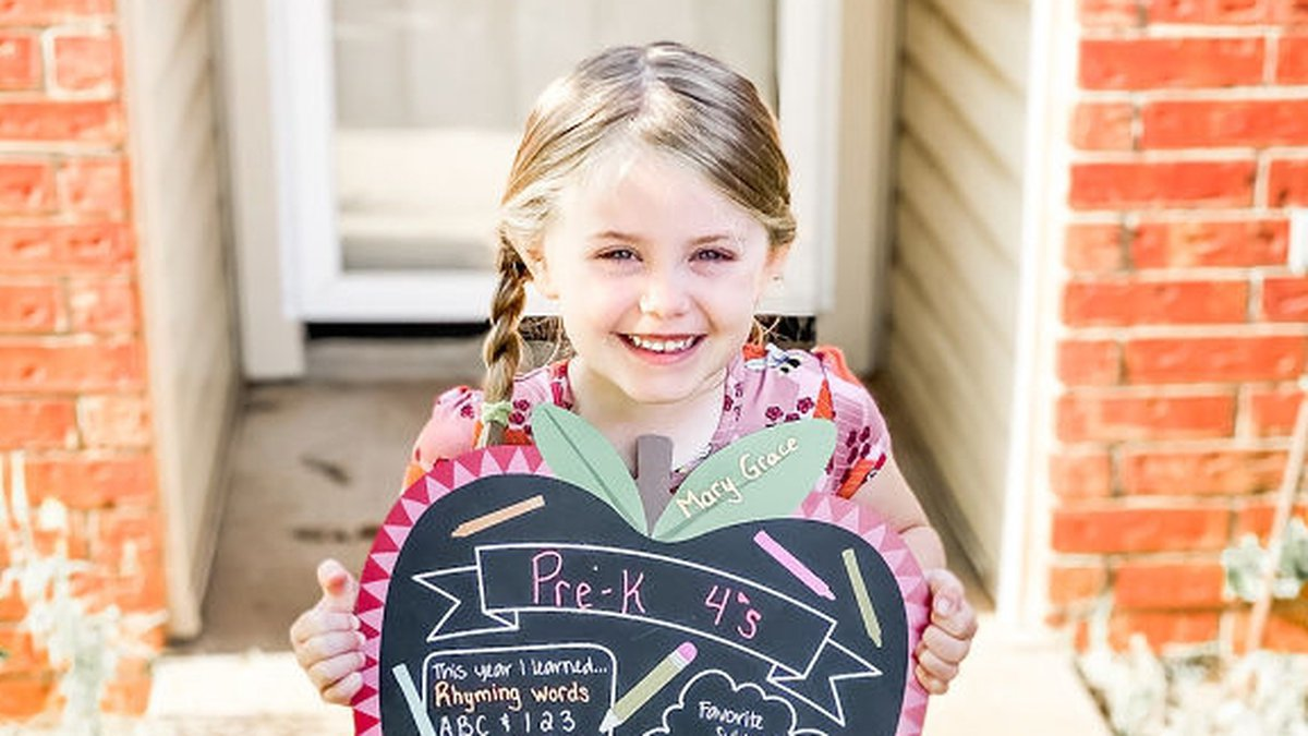 Thanks to Robyn Woodward for sharing this photo of her daughter on her last day of pre-k!