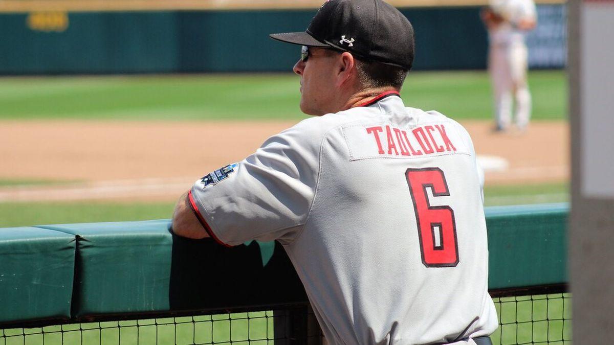 Red Raider Head Baseball Coach Tim Tadlock
