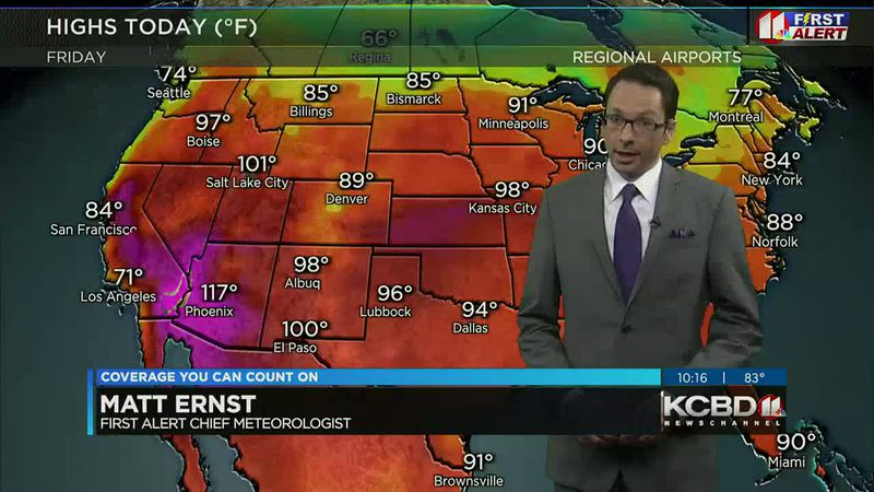 KCBD Weather at 10 for Friday, June 18