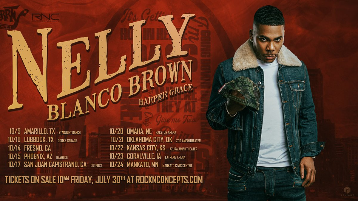 Nelly to perform at Cook's Garage in Lubbock, TX.