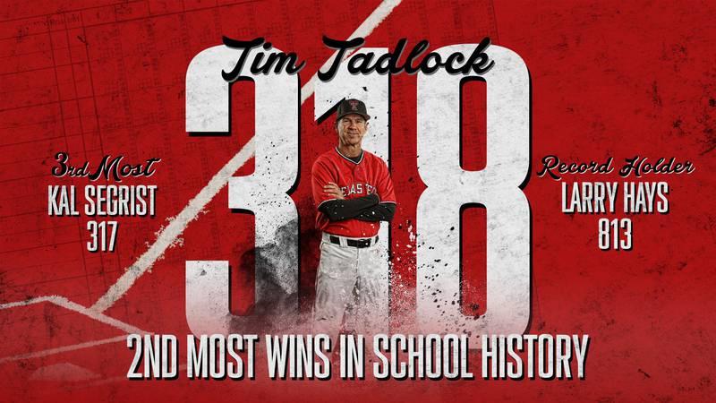 Texas Tech baseball coach Tim Tadlock becomes the second winningest coach in program history,...