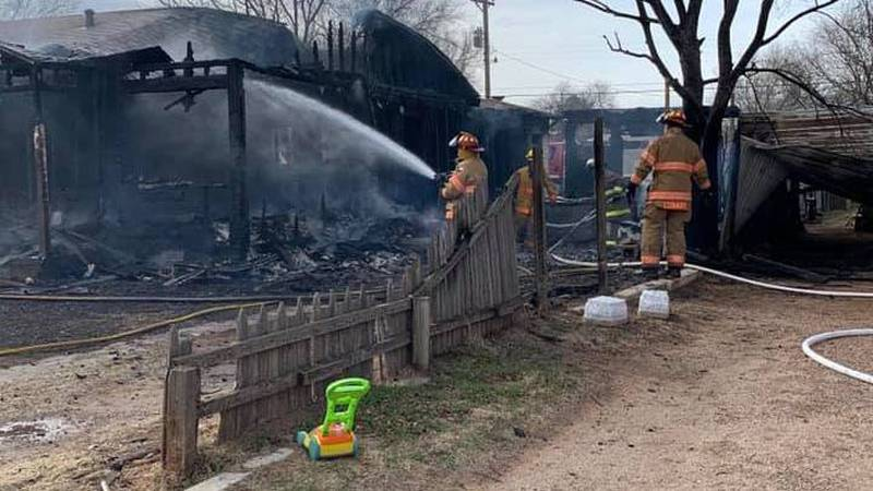 One home was destroyed and another suffered extensive smoke damage in a fire in Cochran County...