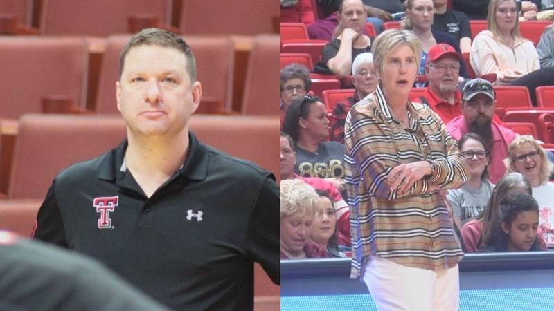 Red Raiders Coach Chris Beard and Lady Raiders Coach Marlene Stollings