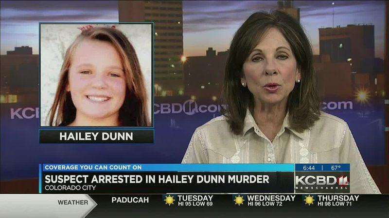 Suspect arrested in Hailey Dunn murder